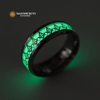 Glowing / Luminous Masonic Ring
