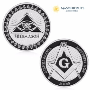 Silver Plated Masonic Coin