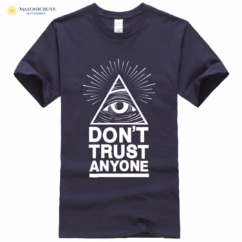 Masonic T-shirt With Slogan Don't Trust Anyone