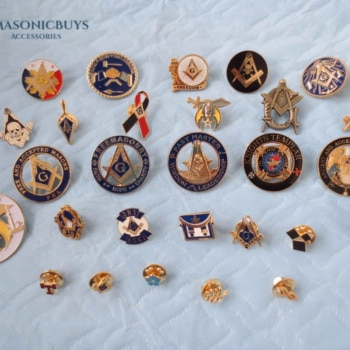 28 Different Style Of Masonic Pin Badges