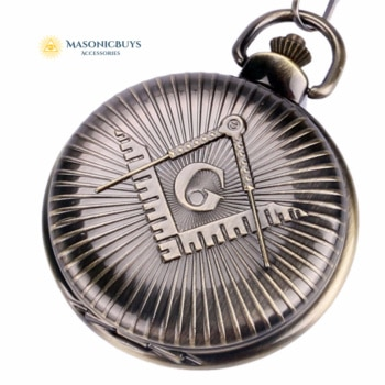 "Classic Masonic Pocket Watch With Big ""G"" Symbol. Available In Different Colors"