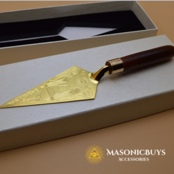 Masonic Trowel With Engraving