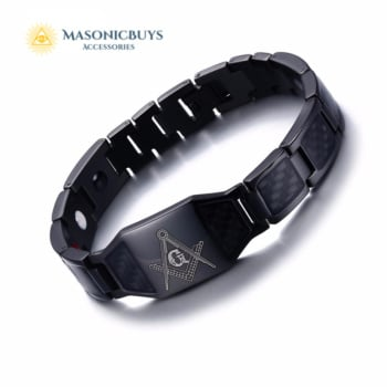 Buy 4 in 1 Magnetic Therapy Healing Masonic Bracelet online at affordale price with FREE shipping