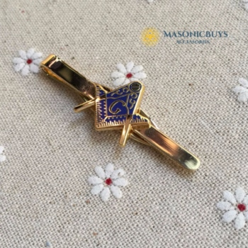 Masonic Tie clip With Square & Compass Symbol