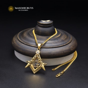 Buy High Quality Gold / Silver Plated Necklace With Masonic Pendant online at affordale price with FREE shipping