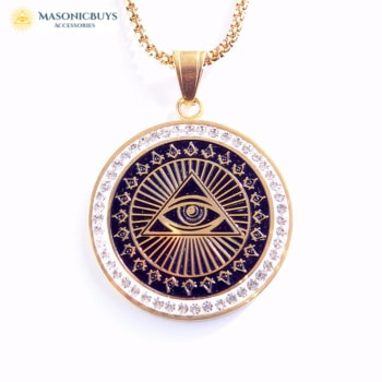 Masonic Necklace With Round Pendant
