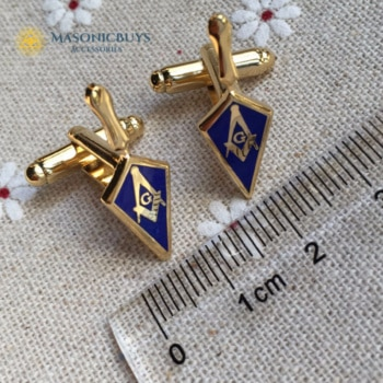 Masonic Cufflinks With Freemason Symbol