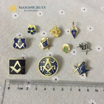 Different Masonic Pin Badges, 10pcs