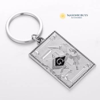 Masonic Keychain, Square