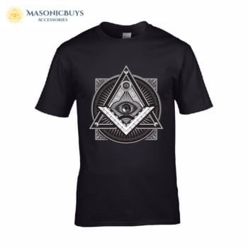 Masonic T-Shirt With Freemason Symbol Design