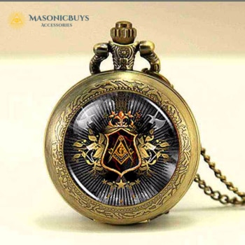 Vintage Masonic Necklace Watch For Women
