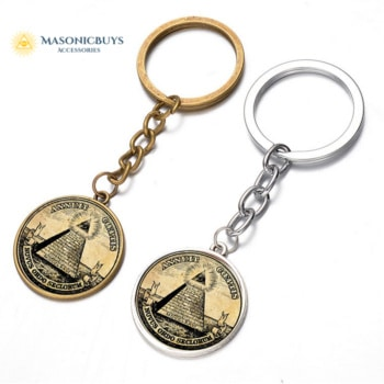 Masonic Keychain With Illuminati Symbol