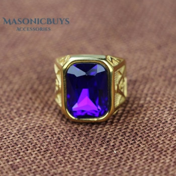 Vintage Masonic Ring With A Large Rhinestone. Different colors available.
