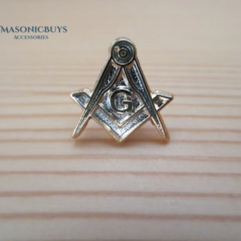 Masonic Pin Badge With Compass & Square G Symbol