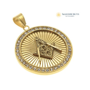 Gold Plated Round Shape Masonic Necklace