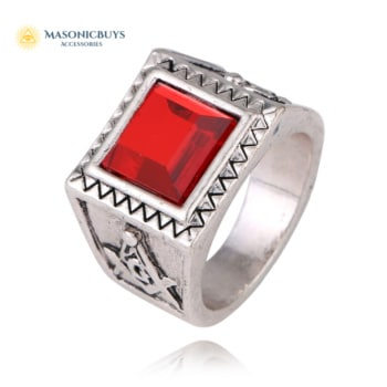 Buy Silver Antique Masonic Ring online at affordale price with FREE shipping