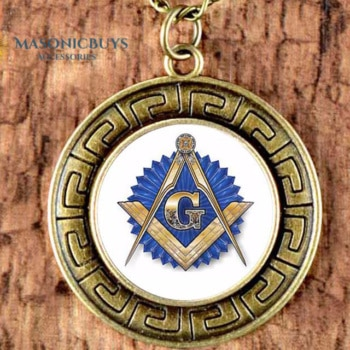Buy Masonic Vintage Necklace With Pendant online at affordale price with FREE shipping