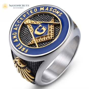 "Buy Masonic Ring ""Free And Accepted Masons"" online at affordale price with FREE shipping"
