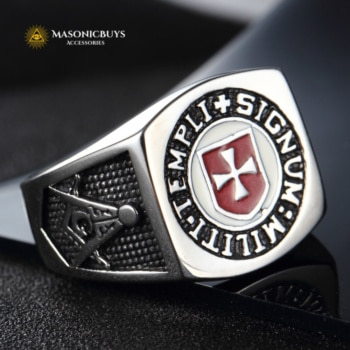 Buy Masonic Knights Templar (Militi Templi Signum) Ring online at affordale price with FREE shipping