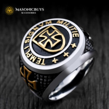 Masonic Knights Templar's Ring. Made Of Stainless Steel