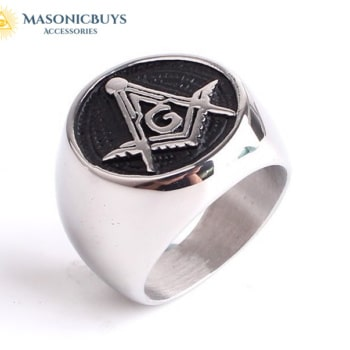 High Polished Stainless Steel Masonic Ring