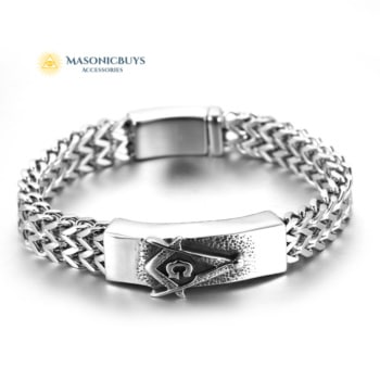 Stainless Steel Masonic Bracelet