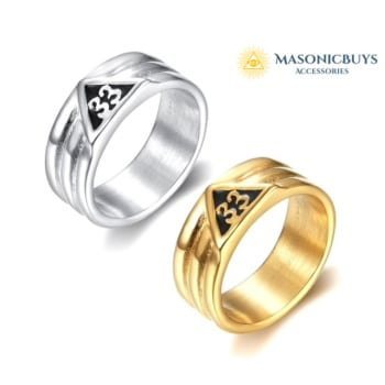"Masonic ""Scottish Rite 33rd Degree"" Ring"
