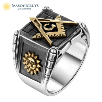 925 Sterling Silver Masonic Ring For Men
