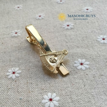 Luxury masonic tie clip, new 2018 design