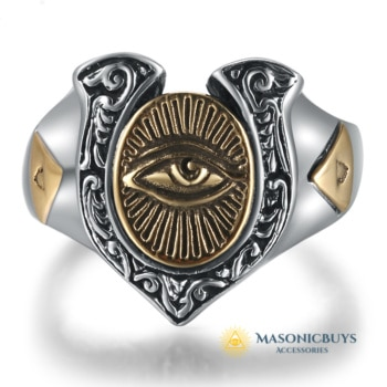 925 Silver Masonic Ring With All Seeing Eye