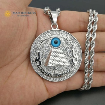 Buy Masonic Necklace With Pendant – Pyramid & Eye of Providence online at affordale price with FREE shipping