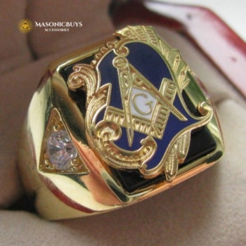 18K Gold Plated Religious Masonic Ring