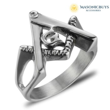 Buy Light Weight Stainless Steel Masonic Ring For Women online at affordale price with FREE shipping