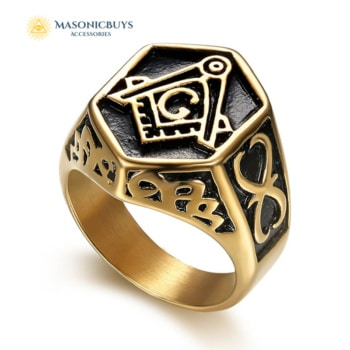 Buy Unique Masonic Ring, Hexagon online at affordale price with FREE shipping