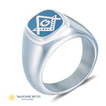 Buy Blue Lodge Stainless Steel Masonic Ring online at affordale price with FREE shipping