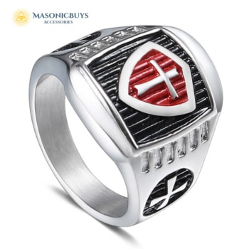 Buy Knights Templar Masonic Ring, Stainless Steel online at affordale price with FREE shipping