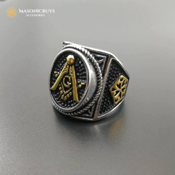 Buy Freemasons Handmade & High Polished Stainless Steel Ring online at affordale price with FREE shipping