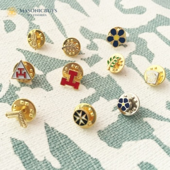 Different Freemason Pin Badges For Special Occasions, 10pcs