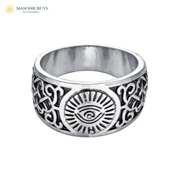 Buy Engraved Unique Masonic Ring With All Seeing Eye online at affordale price with FREE shipping