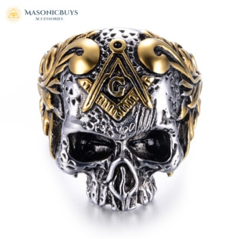 Free Masons Secret Skull Head Ring