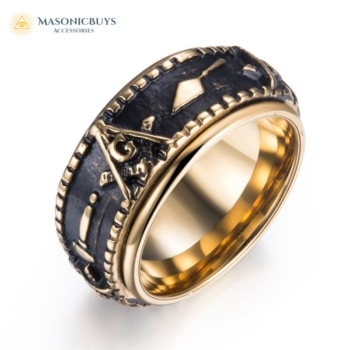 Spinning Masonic Signet Ring