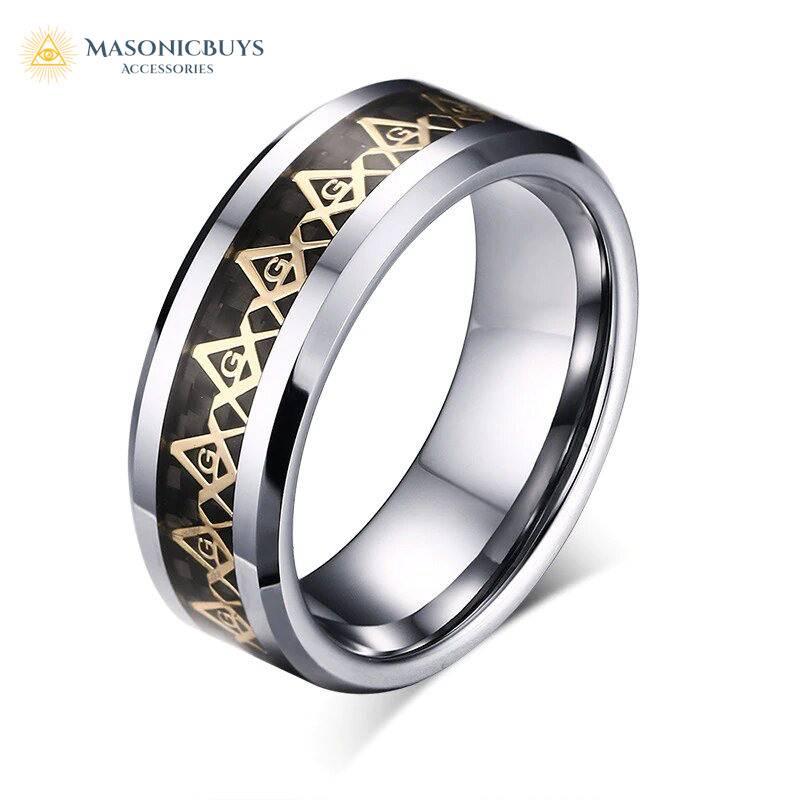 Trendy Freemason Ring for Entered Apprentice