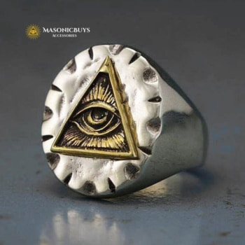 Old Looking Stainless Steel Masonic Ring