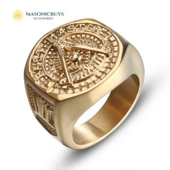 Classic Vintage Past Master Masonic Ring