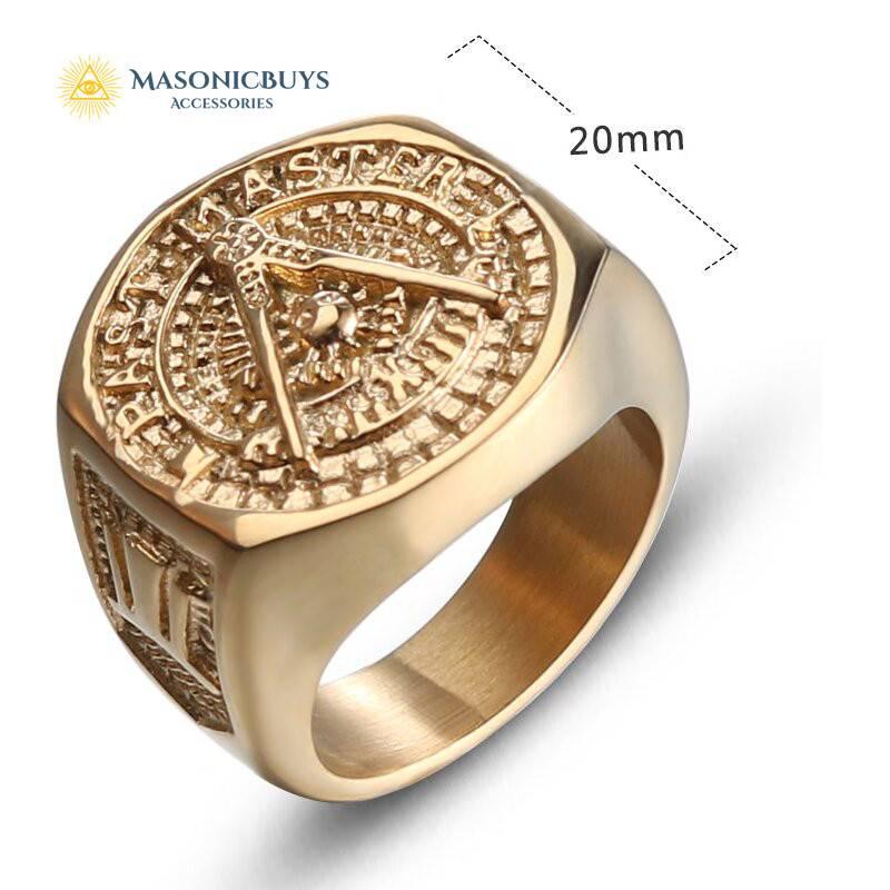 Classic Vintage Past Master Masonic Ring