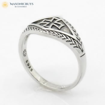925 Sterling Silver Knights Templar Ring