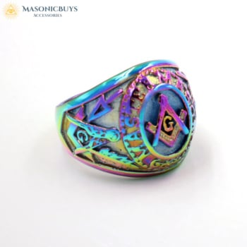 Buy Beautiful Chameleon Colour Masonic Ring online at affordale price with FREE shipping