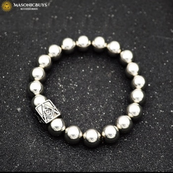 Buy Masonic Bracelet With Elastic Steel Beads Chain online at affordale price with FREE shipping