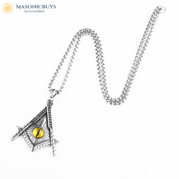 Masonic Necklace With The Square And The Compasses