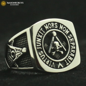 Masonic Ring With Scottish Rite 14th Degree Motto